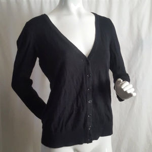 Forever 21 Black Long Sleeve Cardigan Sweater M